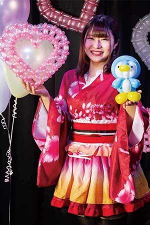 バルーン派遣ランドから出張派遣できるパフォーマー Balloon MIYUKI(バルーン ミユキ)